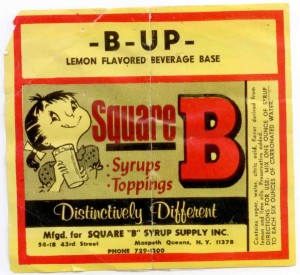 B-Up County Soda Label